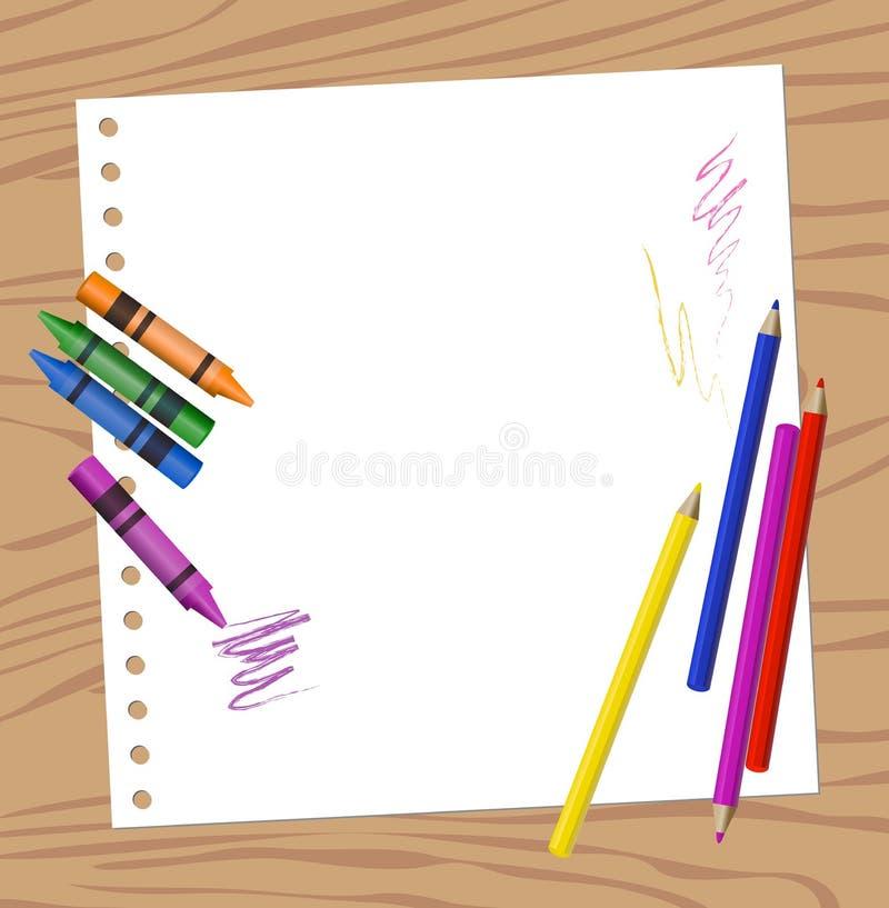 Color Pencils vector illustration
