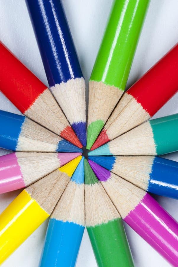 Free Color Pencils Circular Patern Royalty Free Stock Photo - 53239595