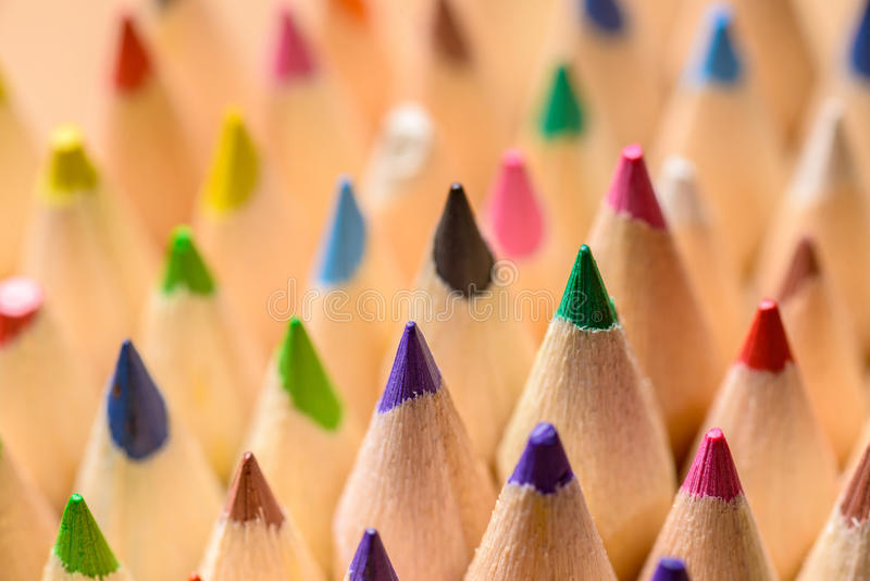 Color pencils close-up royalty free stock photos