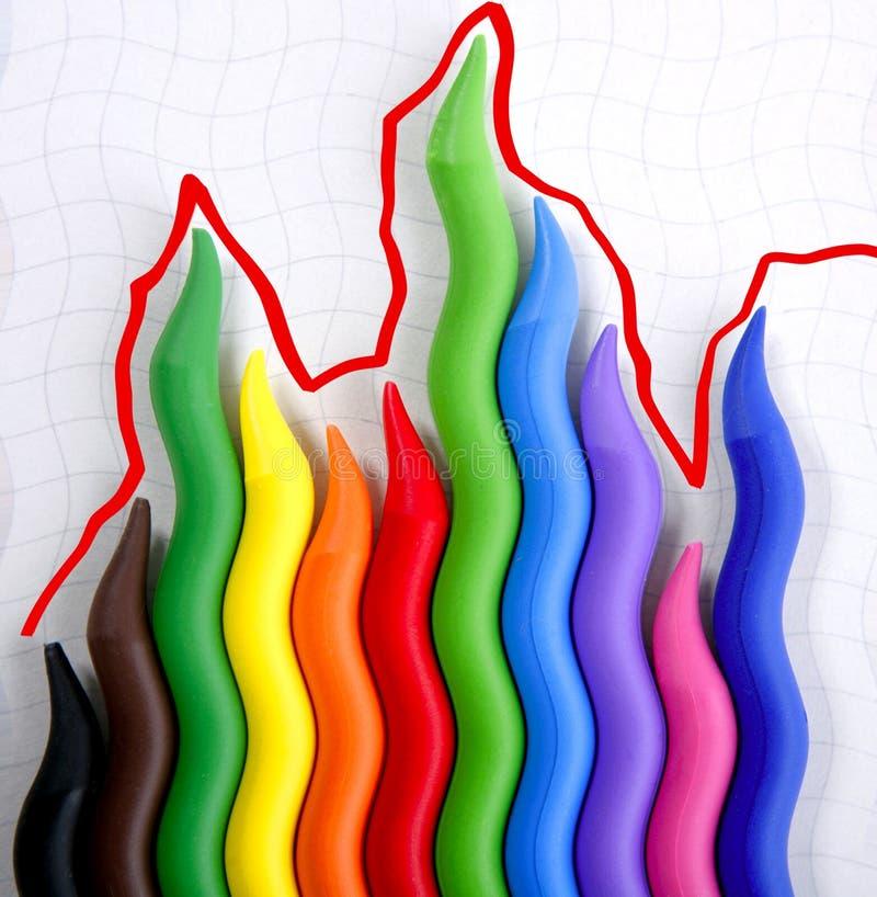 Download Color Pencils Crisis Crazy Graphic Chart Report Stock Images - Image: 8984894