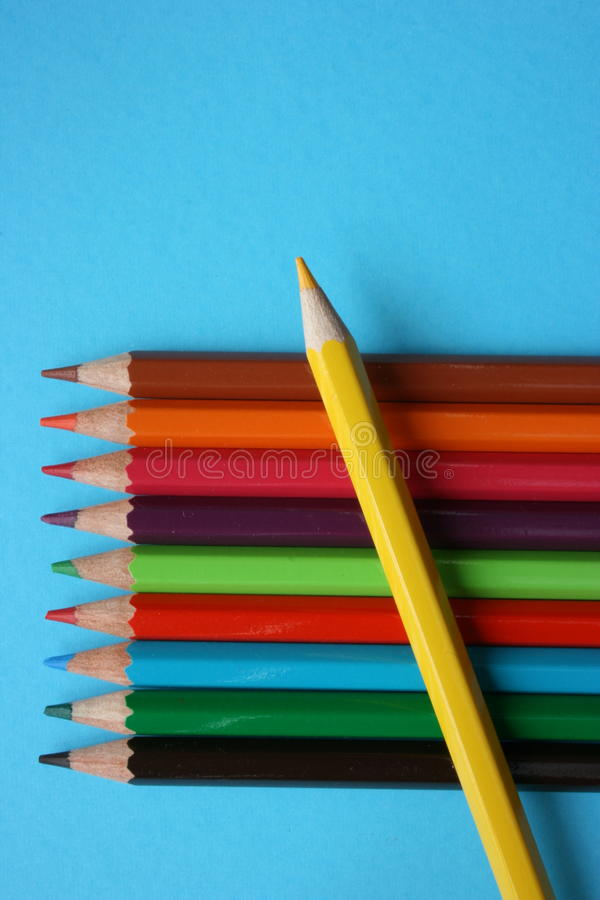 Color pencils of different colors
