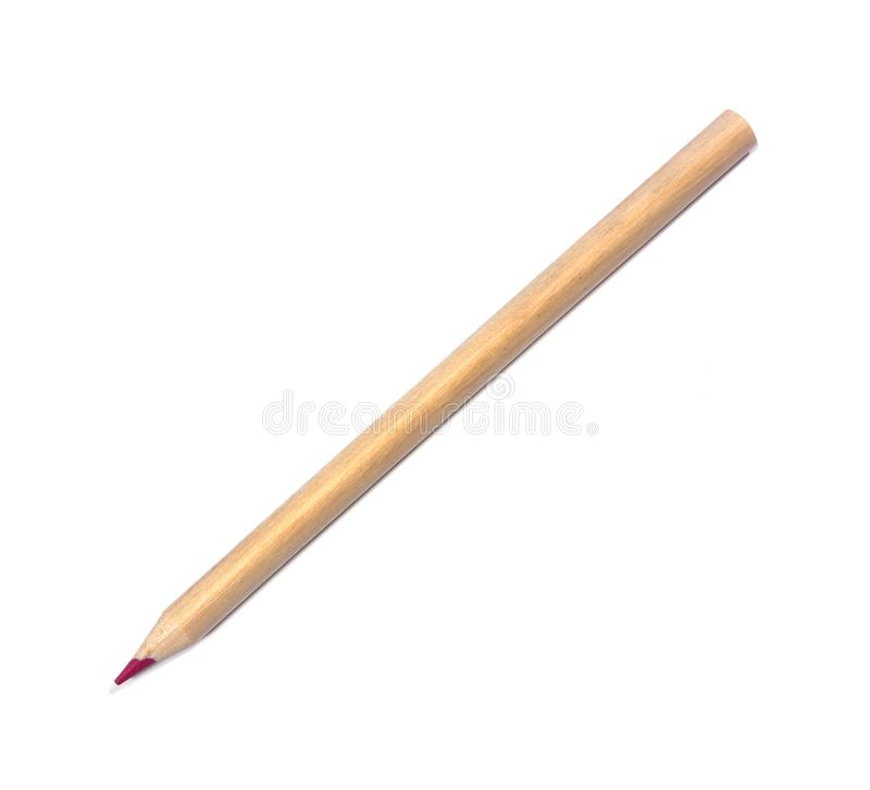 Color pencils isolated on white. natural color. One natural color pencil isolated. Crayon isolated. Pastel pencil isolated royalty free stock image