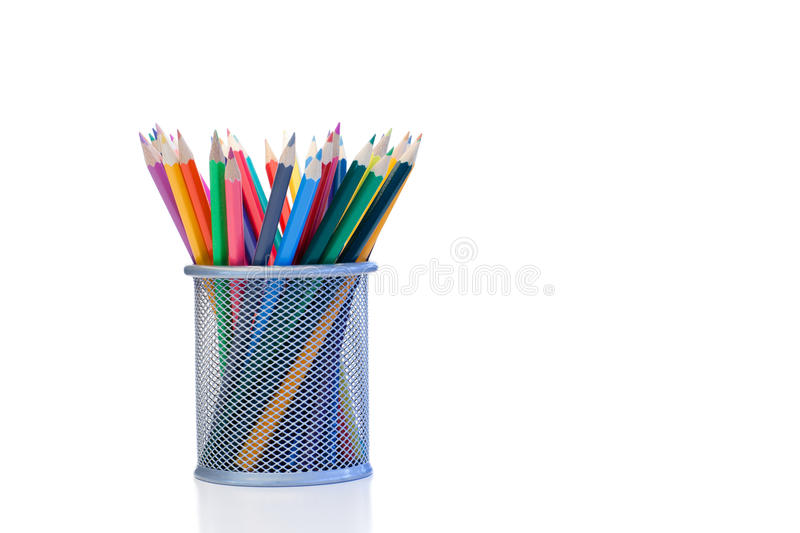 Download Color pencils in a jar stock photo. Image of instrument - 19125768