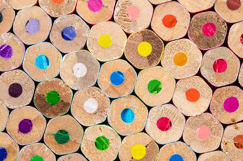 Color pencils pile royalty free stock photo