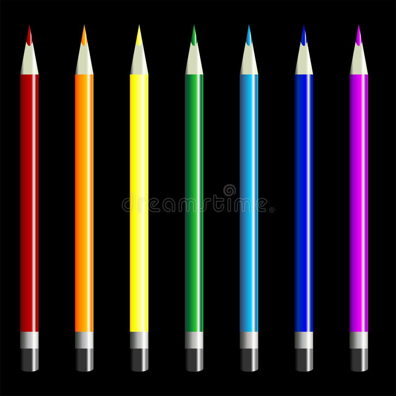 Download Color pencils set stock vector. Illustration of draw - 12402375