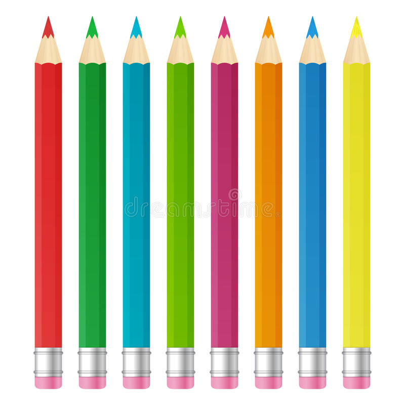 Download Color pencils stock vector. Image of group, image, black - 33280906