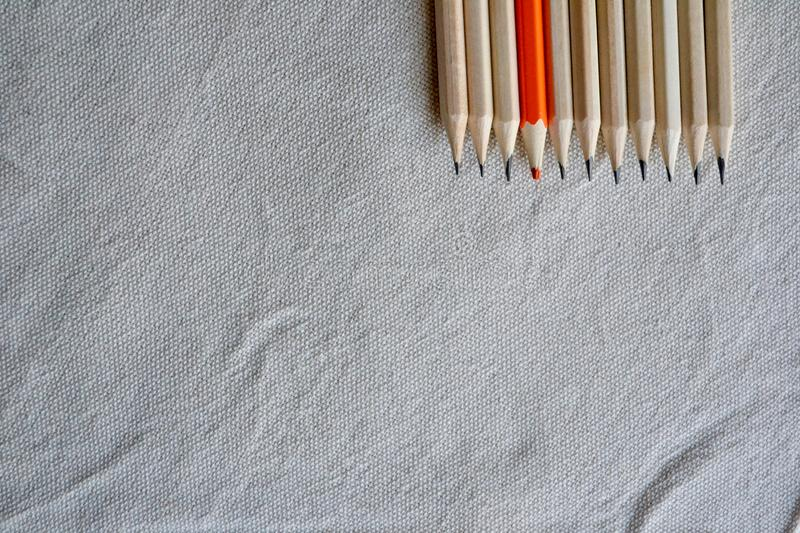 Color Pencils,Stand Out Of A Crowd Concept royalty free stock images