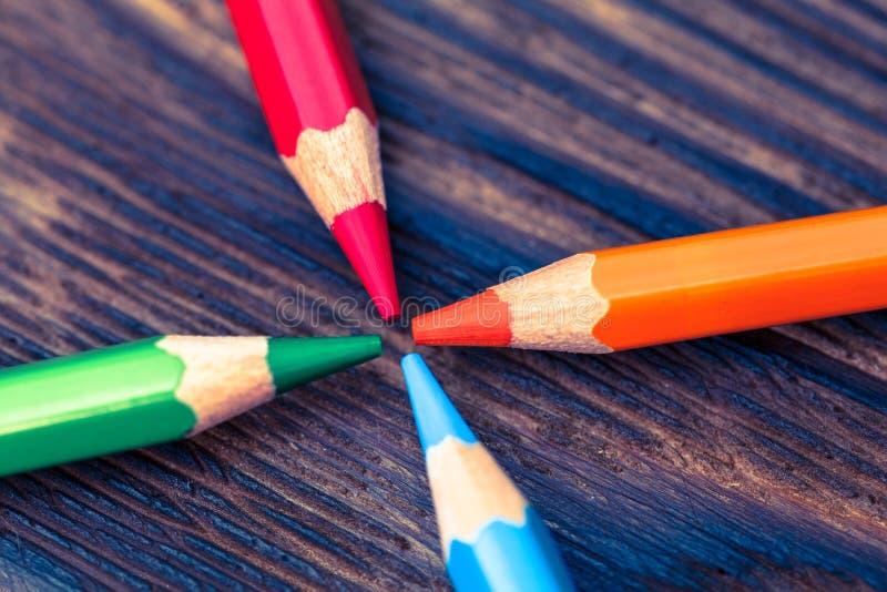 Color pencils. Styled concept photo. Colour pencils Styled concept photo royalty free stock photos