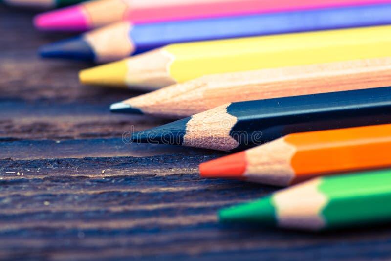 Color pencils. Styled concept photo. Colour pencils Styled concept photo royalty free stock image
