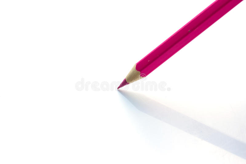 Color pencils on white background royalty free stock image