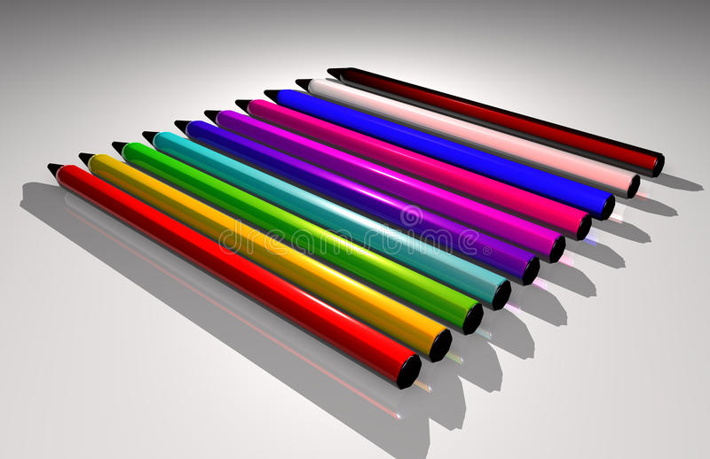 Color Pens Royalty Free Stock Image