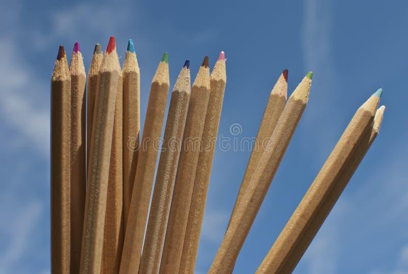 Color pens royalty free stock photos