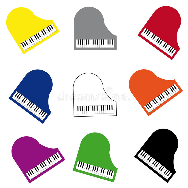 Color piano on white background. Vector illustration vector illustration