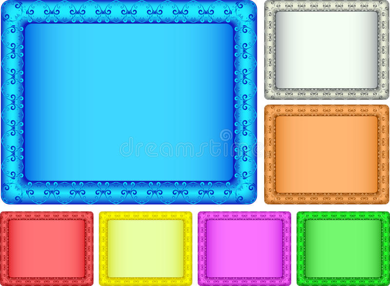 Color picture frame. royalty free stock photography