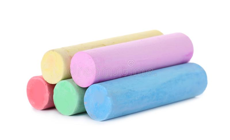 Color pieces of chalk royalty free stock images