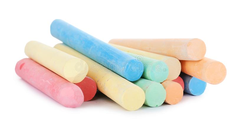 Color pieces of chalk stock images