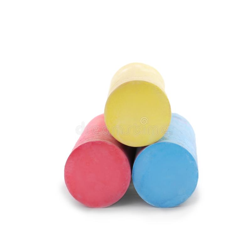 Color pieces of chalk stock image