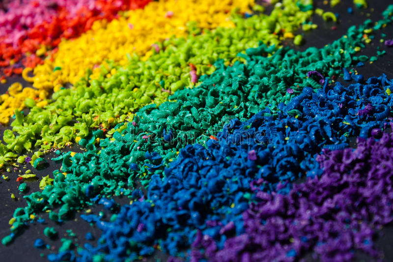 Color pigment. Sliced color pigment closeup photo royalty free stock photo