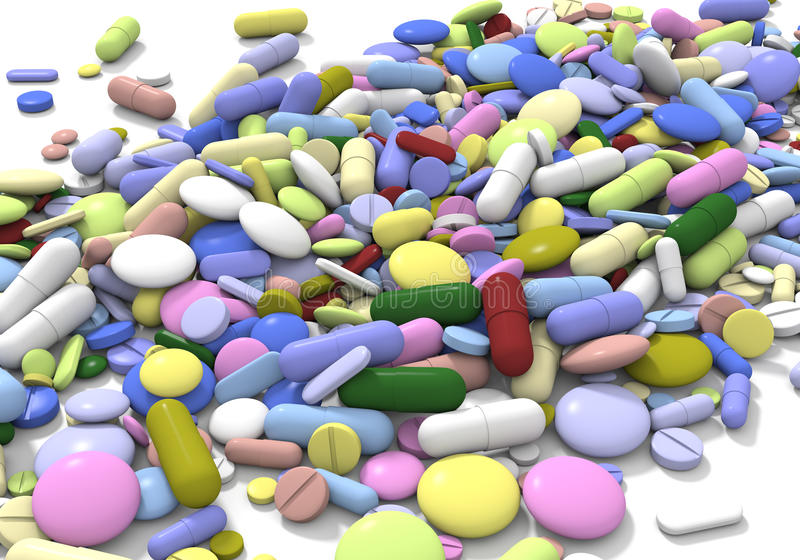 Color pills horizontal royalty free stock images