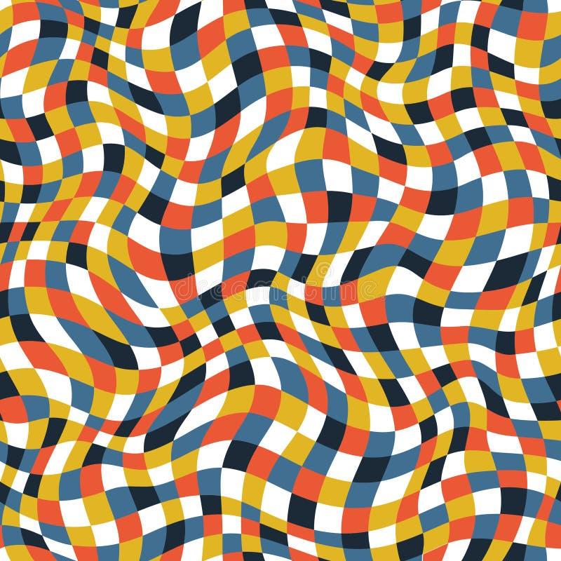 Color plaid texture royalty free illustration