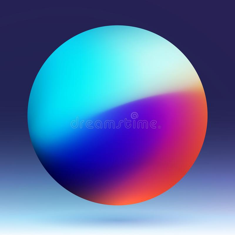 Abstract Planet Colorful Mesh Vector Illustration royalty free illustration