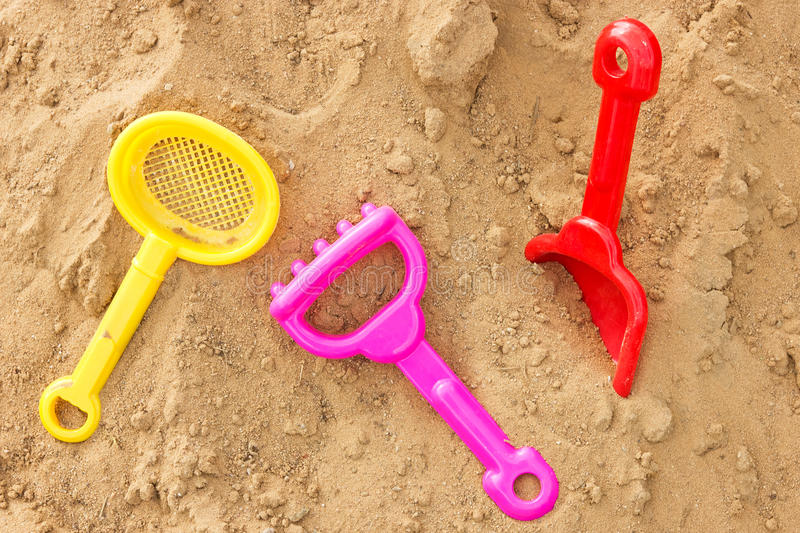Download Color Plastic Toys On A Sand Stock Image - Image: 25227671