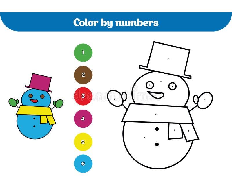 Color Por El Número, Juego De La Educación Para Los Niños Página Que ...