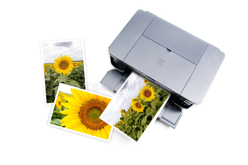 Color printer royalty free stock photos