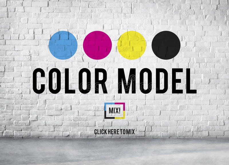 Color Printing Ink Color Model CMYK Concept stock photo