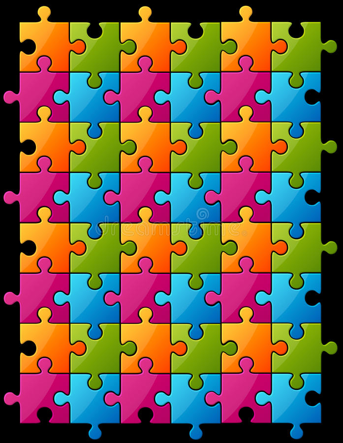 Download Color puzzle stock vector. Illustration of piece, game - 22825706