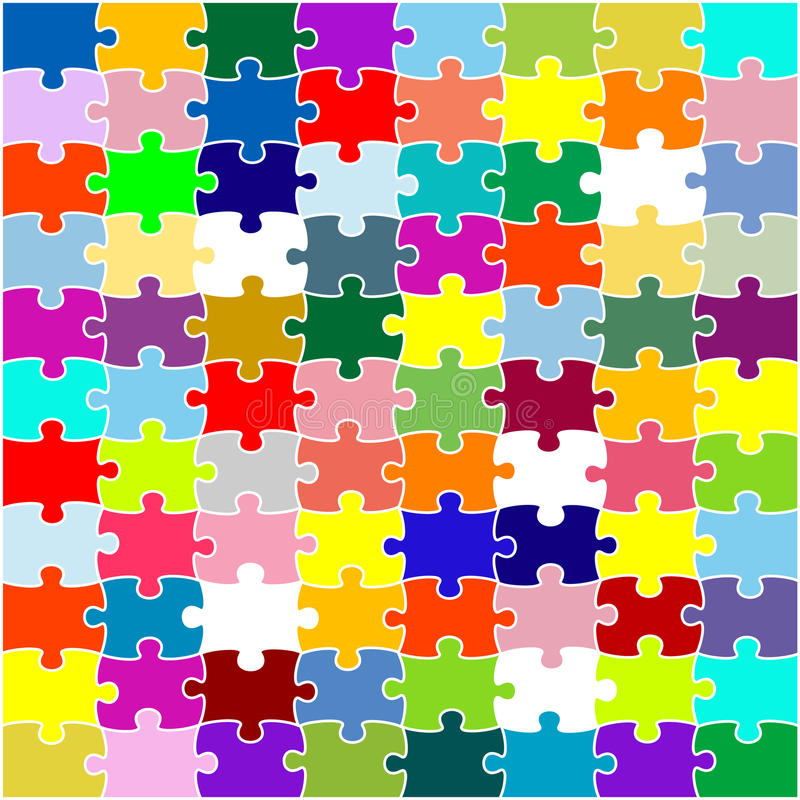 Download Color puzzle stock vector. Illustration of form, network - 9435381