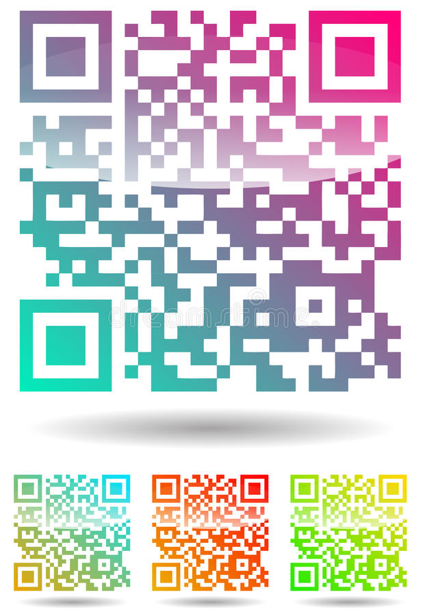 Download Color qr code stock vector. Illustration of colorful - 20336216