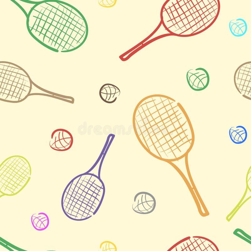 Color rackets vector illustration