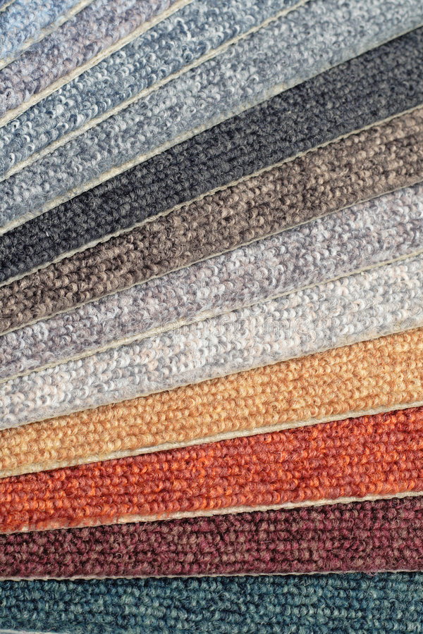 Color range of carpet samples. Can serve as background stock images