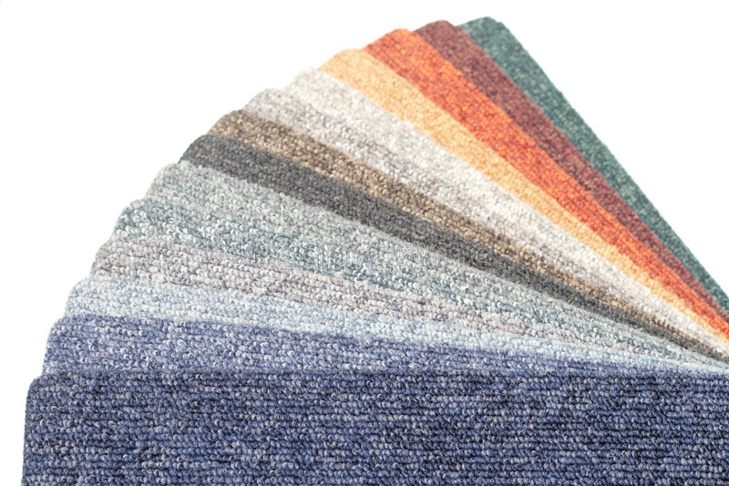 Color range of carpet samples. Can serve as background royalty free stock photo