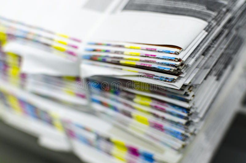 Color reference bars of printing paper royalty free stock photos
