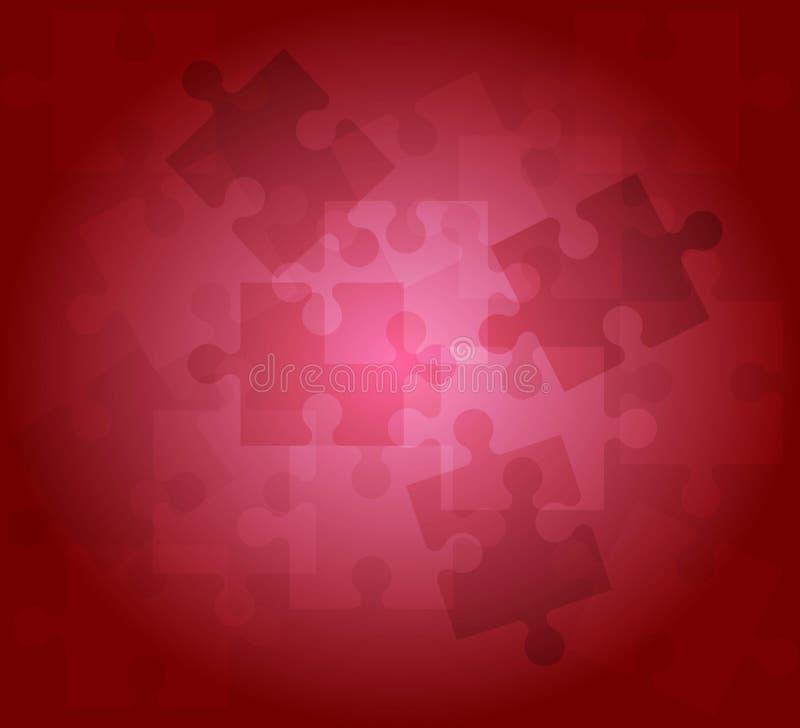 Color rojo del fondo del modelo abstracto del rompecabezas libre illustration