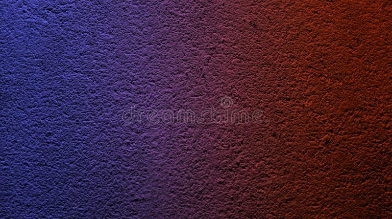 Color rojo del rub? azul el?ctrico del extracto con el fondo seco ?spero de la textura de la pared imagenes de archivo