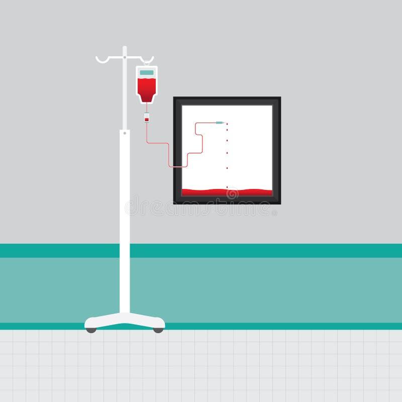 Color rojo del terraplén del marco stock de ilustración