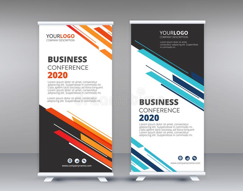 Color Roll Banner design template modern business vector illustration