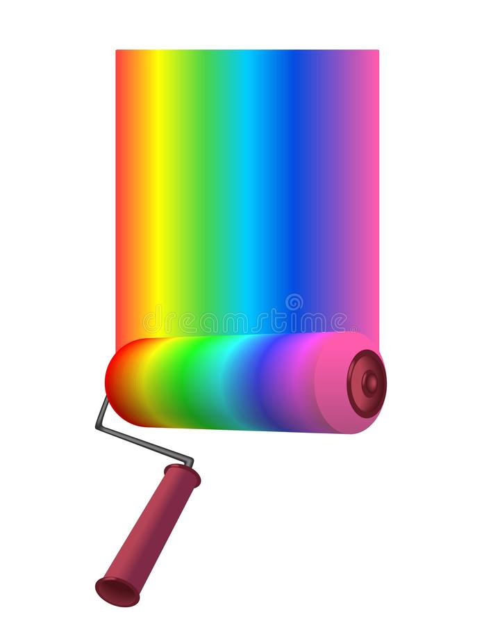 Download Color roller stock vector. Image of roller, tool, housing - 21477076