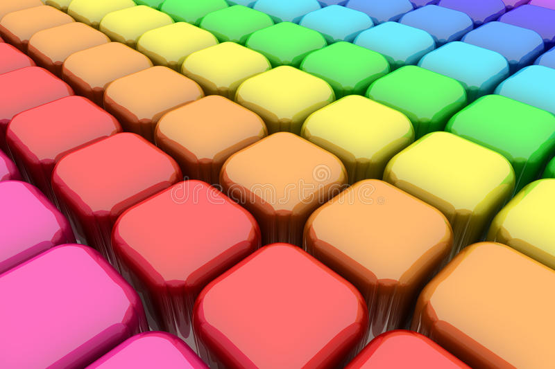 Download Color Rounded Cubes stock illustration. Image of spectrum - 23942274