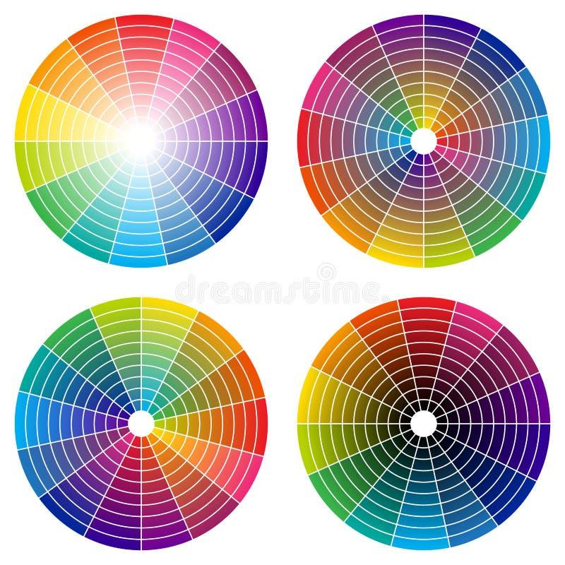 Color rullar vektor illustrationer