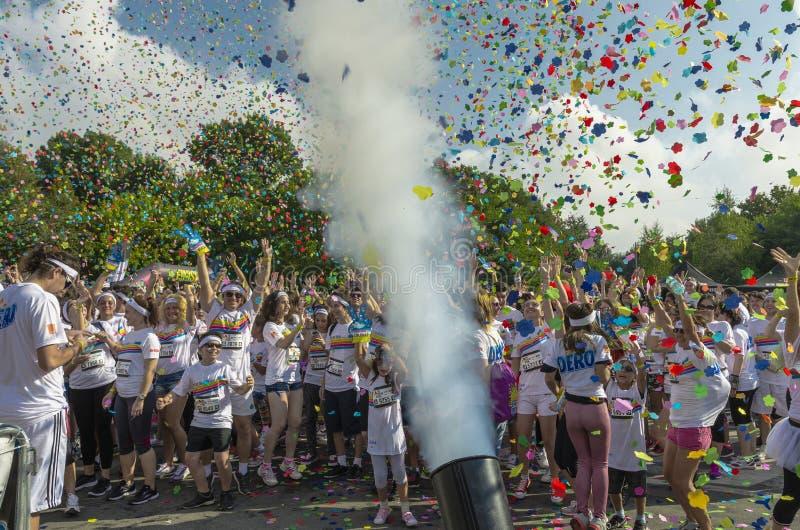 The Color Run Bucharest royalty free stock photos