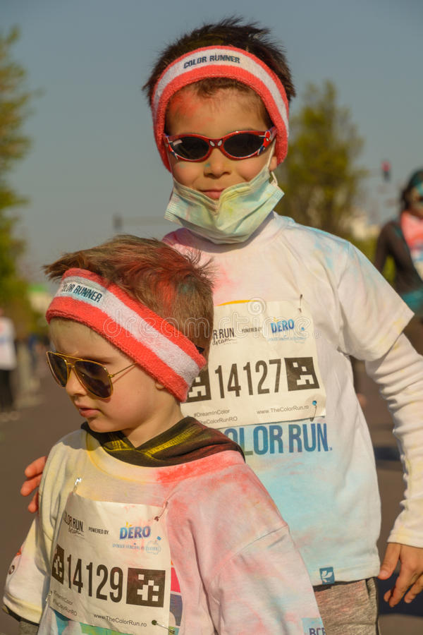 The Color Run. Bucharest, event from 22 Apr 2017 royalty free stock photography