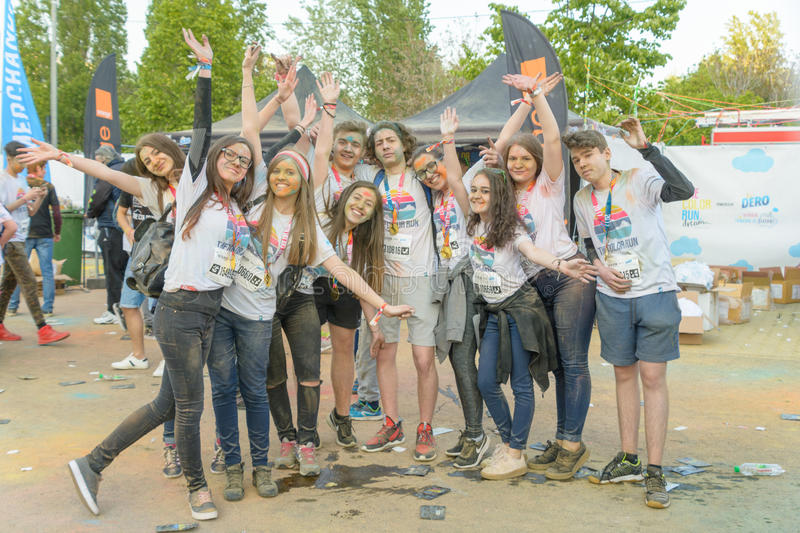 The Color Run. Bucharest, event from 22 Apr 2017 royalty free stock photos