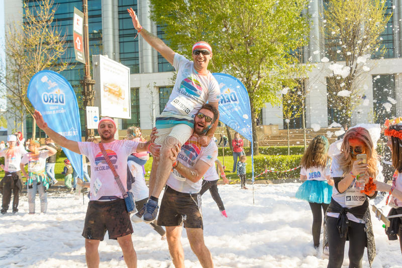 The Color Run. Bucharest, event from 22 Apr 2017 royalty free stock images