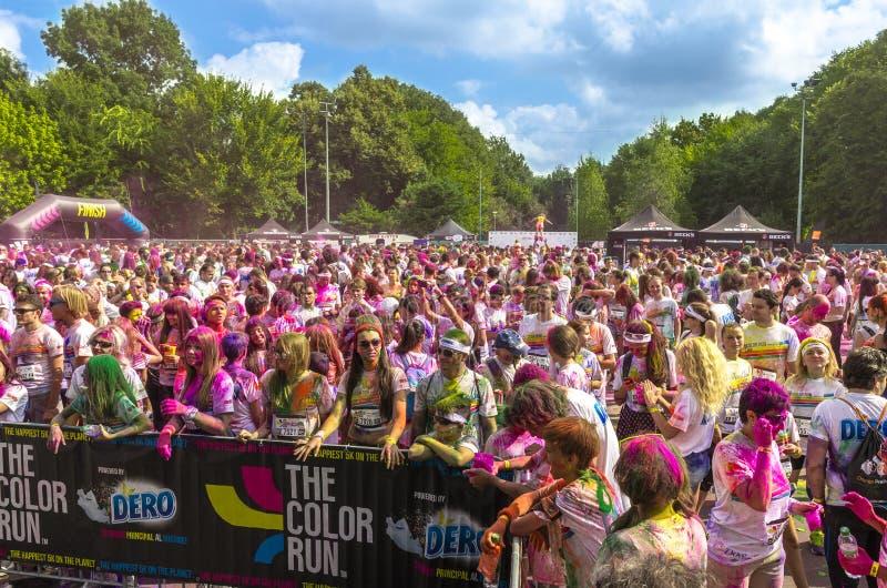 The Color Run Bucharest stock photos