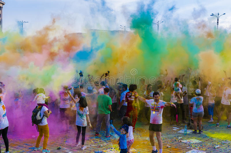 The Color Run Bucharest royalty free stock photography