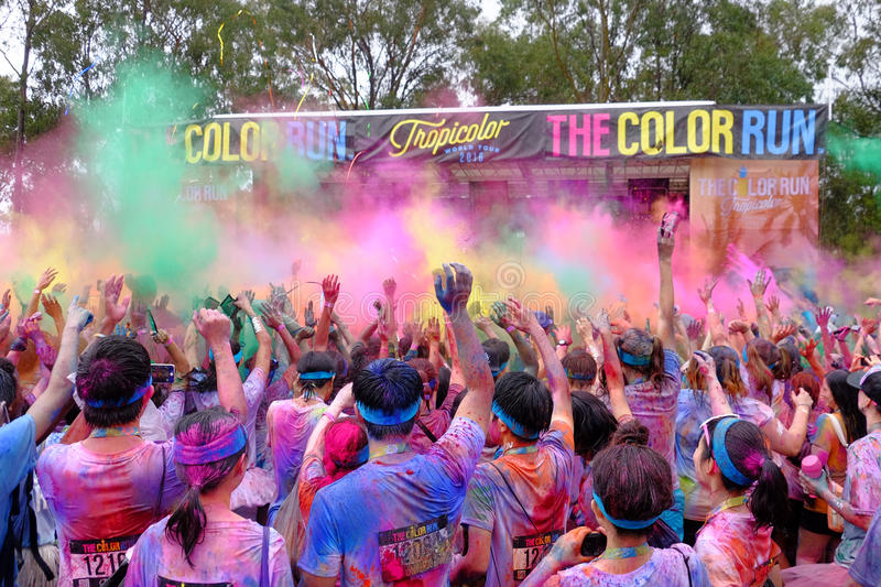The Color Run stock images